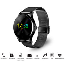 цены K88H Smart Watch 1.22 Inch IPS Round Screen Support Sport Heart Rate Monitor Bluetooth SmartWatch For Apple Huawei IOS Android