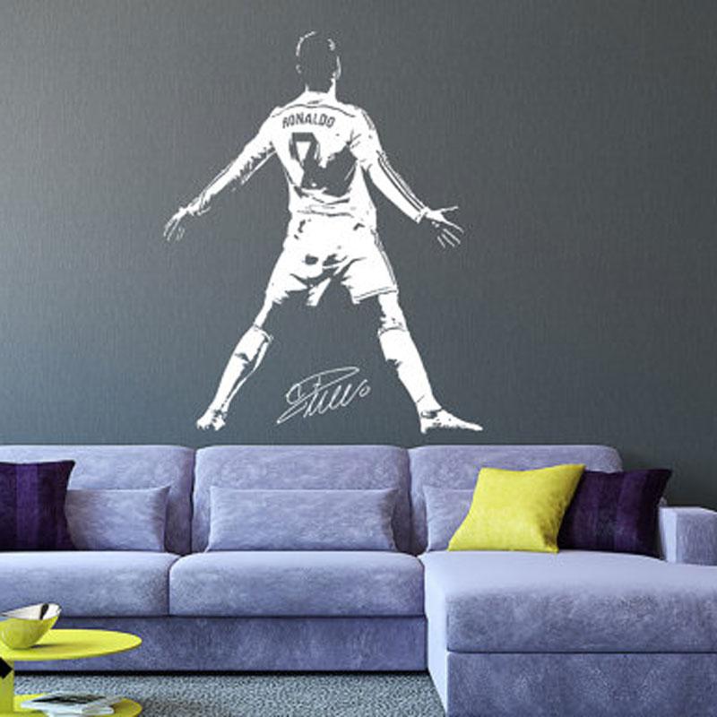 Cristiano Ronaldo Muurtattoo Sticker Voetbal Voetballer Portugal Creatieve Vinyl Thuis decal Sport Muurstickers voor bay 1