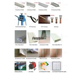 Foxygen stretch plafond installatie gereedschap gebruik Aluminium profiel type twee met PVC cover