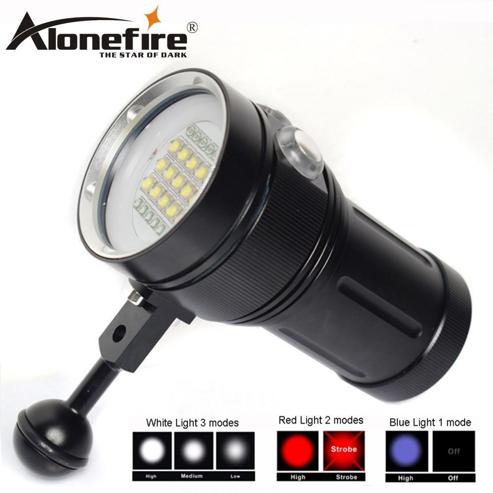 AloneFire DV49 multifunction diving fill light flashlight XML2 led Professional diver Light Underwater Scuba Video Light