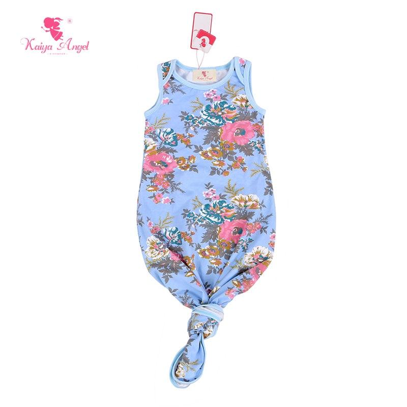 Kaiya Angel Baby Sleep Gown Sleeveless Infant Sleep Gowns Solid ...