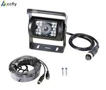 Accfly SONY CCD 4 pin HD del revés del coche cámara de visión trasera para Camiones Y autobuses Caravana autocaravana RV Remolque Excavadora