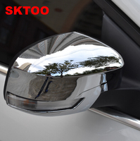 Fit For 2012 2015 Ford Focus Door Side Wing Mirror Chrome Cover Rear View Cap Accessories