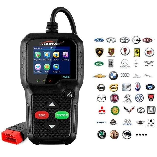 US $43 19 20% OFF Best Car OBD2 Scanner Auto Diagnostic KW680 OBD & EOBD  Code Reader In Russian Gas Diesel Analyzer Automotive Car Scan TooLs-in  Code