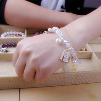 Kryształowe Koraliki Akrylowe Pearl List 5 Tassel Charm Bransoletka Manchette Moda Marka Biżuteria Kobiet Akcesoria/Armbanden/Bileklik