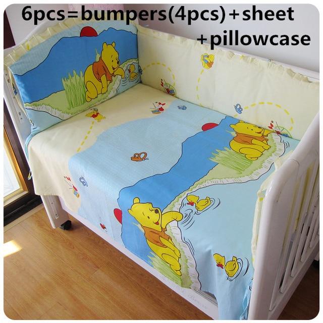 2016! 6 шт. детские постельных принадлежностей характер кроватки постельное белье включает в себя подушки бамперы ( бамперы + лист + )