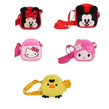 1 pcs Lovely Mouse cartoon pattern boy and girl Plush single shoulder bag