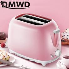 DMWD автоматический электрический тостер 2 ломтика слот тосты выпечки печь подогреватель гриля мини Сэндвич Машина для завтрака хлебопечка ЕС Plug