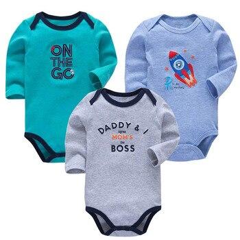 493063cc7 3 unids/lote 100% Body de bebé de algodón recién nacido de algodón del bebé  de manga larga ropa interior de bebé Niños Niñas Ropa conjuntos de bebé