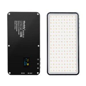 Image 1 - Cep Alüminyum Kısılabilir OLED Ekran 180 Adet LED Video Işığı ile Pil CRI96 + Iki Renk Vlog Dslr olarak Aputure AL MX Iwata
