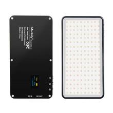 جيب الألومنيوم عكس الضوء OLED عرض 180 قطعة LED الفيديو الضوئي مع بطارية CRI96 + ثنائية اللون ل Vlog DSLRs كما aputure AL MX ايواتا