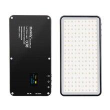 ポケットアルミ調光対応 OLED ディスプレイ 180 個 Led ビデオライトバッテリー Vlog ため CRI96 + 2 色デジタル一眼レフカメラ aputure として AL MX 岩田