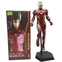 30cm Crazy Toys Iron Man Mark XLVI Iron Man Mk46 PVC Action Figures Model Toy Brinquedos