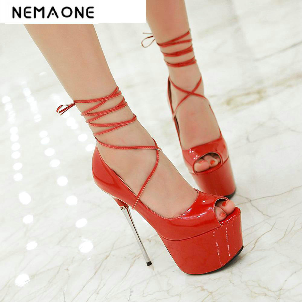 Big size 34-43 Women Pumps ankle strap Wedding Shoes Sexy High Heels Shoes peep toe Platform Pumps Women Shoes women luxury shoes platform pumps bridal wedding lolita shoes black red beige bottom peep toe high heels fetish shoes size 4 16