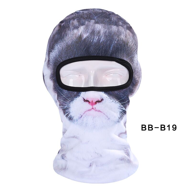 2017 New Lovely Cute New 3D Cat Animal Bicycle Cycling Hat Outdoor Sports Cap Balaclava Motorcycle Full Face Ski Mask