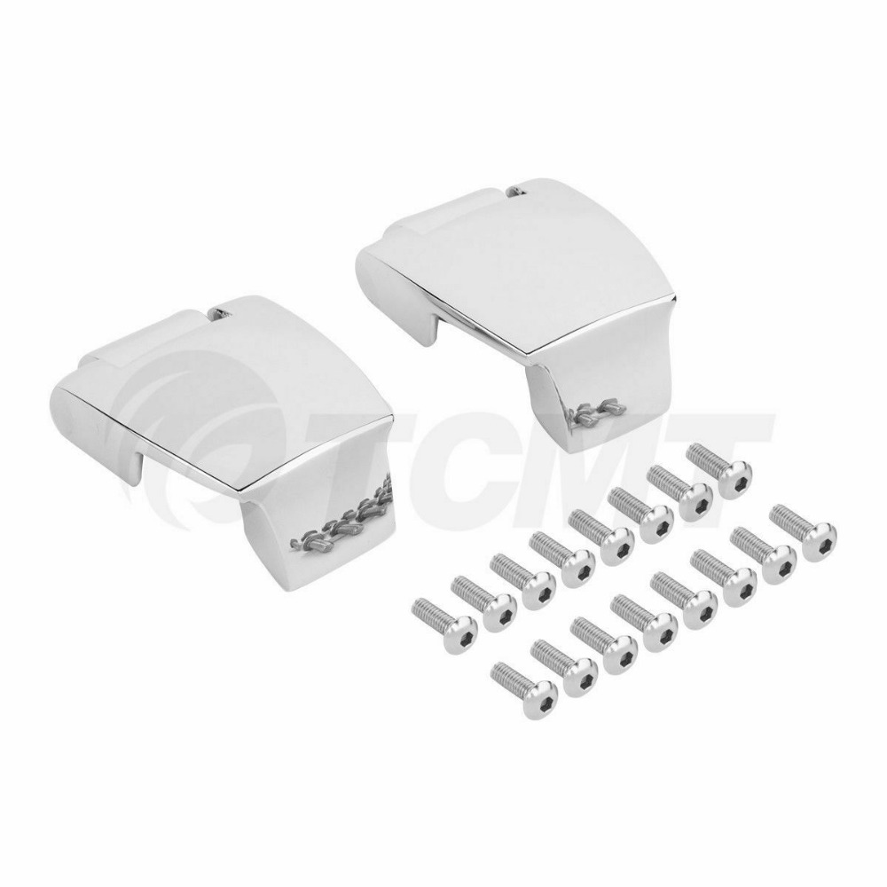 Image 3 - Motorcycle Razor Chopped King Tour Pak Latches & Hinges For Harley Touring Road King Road Electra Glide Street Glide 1988 2013-in Covers & Ornamental Mouldings from Automobiles & Motorcycles