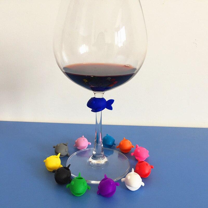 17 Pi/èces supports de sachets de th/é en silicone clip,marqueurs de boisson Marqueurs en verre de silicone marqueurs de verre /à vin Marqueurs de reconnaissance de silicone multicolore