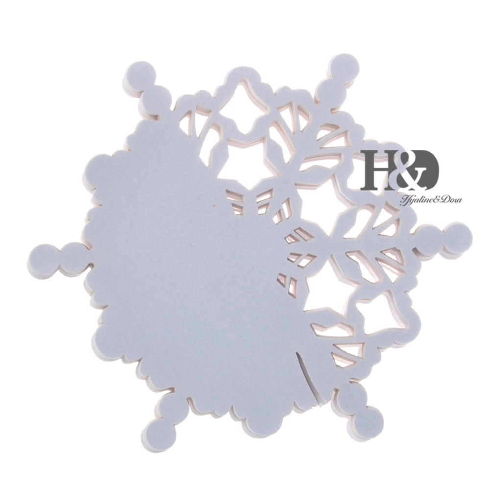 12PCS White Laser Cut Snowflake Design Paper Wine Glass Cards ...