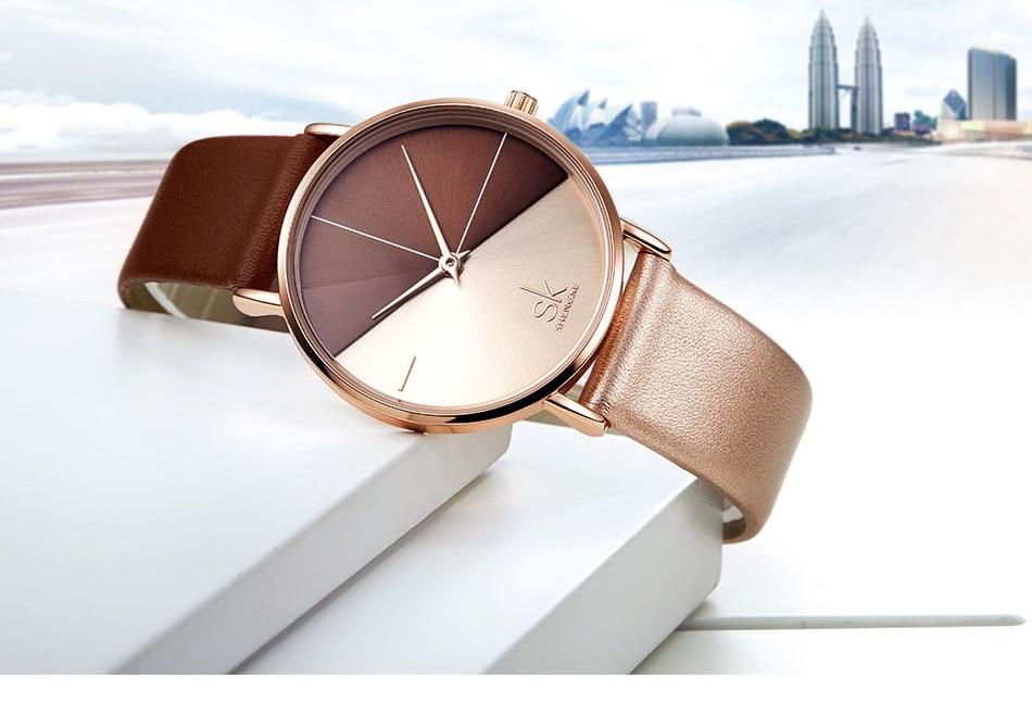 Luxury Leather Watches Women Minimalist Creative Fashion Quartz Watch Reloj Mujer 2018 Simple Ladies Wrist Watch Bayan Kol Saati (3)