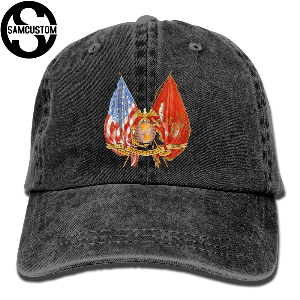 SAMCUSTOM United States Marine Corps-USMC American Flag 3D W