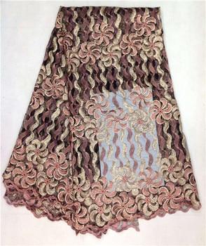 (5yards/lot)  Sepcial Design African Soft Swiss Wedding Organza Net Lace Fabric Sequins Net Lace JL50