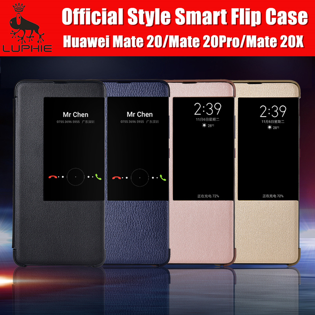 new style 3ddf2 517f6 US $4.99 |Huawei mate 20 pro case magnetic smart view Luxury PU leather  flip cover official style Original LUPHIE for huawei mate 20 coque-in Flip  ...