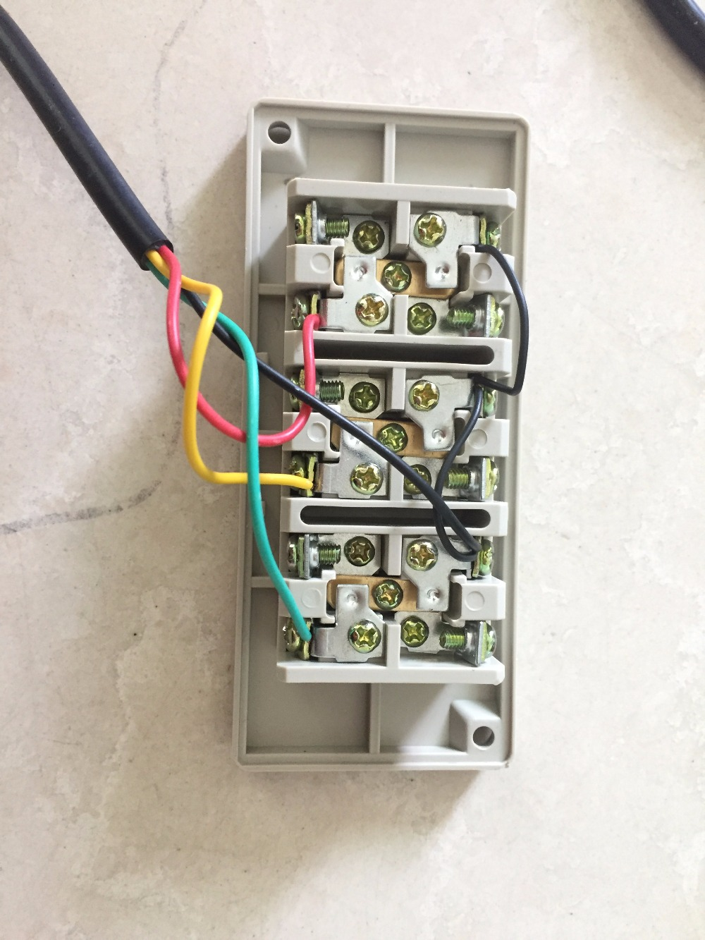 connection of push button