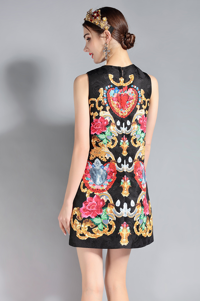 cac424d0944 2019 LD LINDA DELLA 2018 Fashion Runway Dress Women S Sleeveless ...