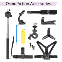 DJI Osmo Action Shoulder Wrist Strap Headband Belt Clip Bicycle Bracket Suction Cup Desktop Bracket Self timer Rod Water Float