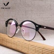 23d34afd3c Fashion Optical Glasses Frame Men Half Rim Clear Lens Eye Glasses Frames  Women Eyeglasses Spectacle Reading Glasses Frame