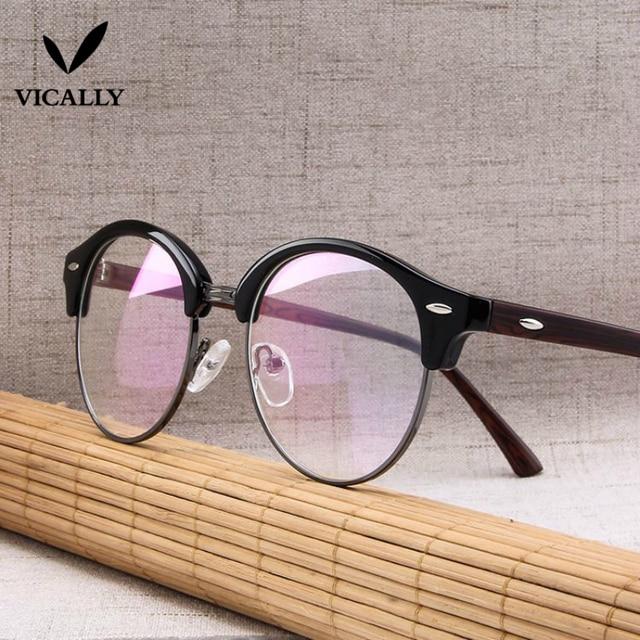 334e246482 Fashion Optical Glasses Frame Men Half Rim Clear Lens Eye Glasses Frames  Women Eyeglasses Spectacle Reading