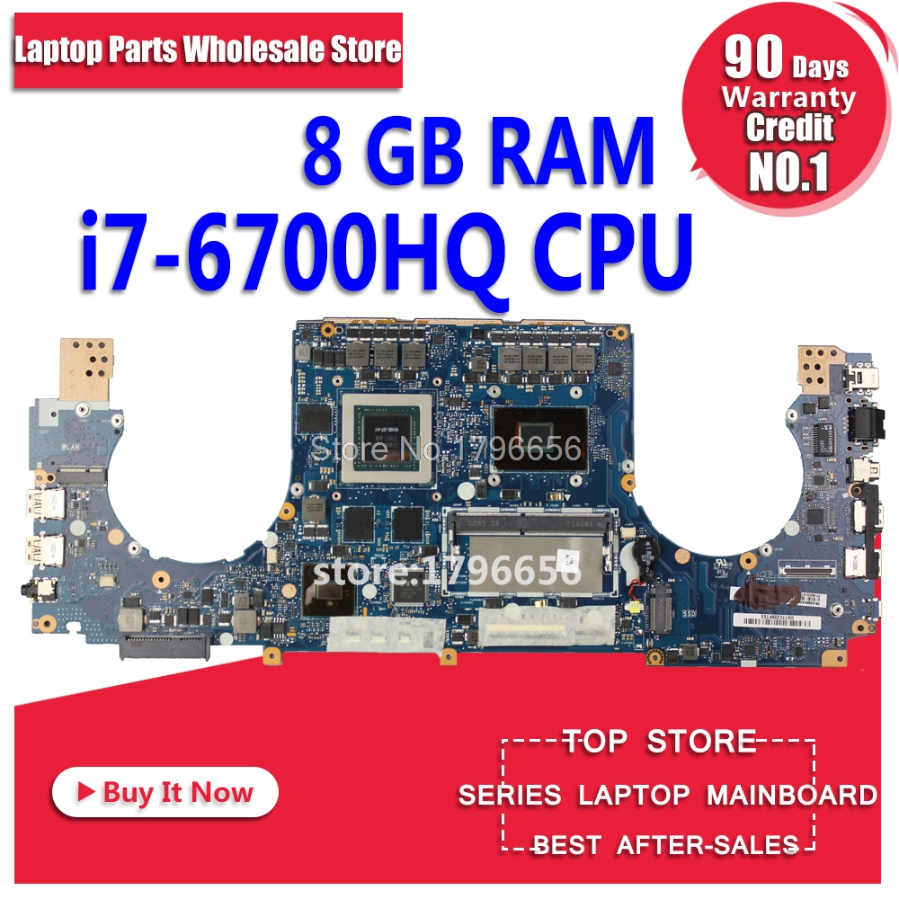 купить GL502VT for ASUS GL502VY GL502VS GL502VM motherboard for laptop GL502VT 8g RAM with 3g I7-6700HQ Processor Performance tests OK по цене 32162.82 рублей
