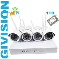 Cctv Network Wireless Security Ip Camera NVR System 720P HD 4ch WIFI P2P Outdoor IR Plug