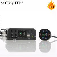 Support 12V ANDONIS Motorcycle MP3 player,Scooter audio support SD card ATV Motorbike Bluetooth MP3 usb player