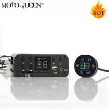 Supporto 12V ANDONIS Moto MP3 lettore, Scooter audio supporto SD card ATV Moto Bluetooth MP3 lettore usb