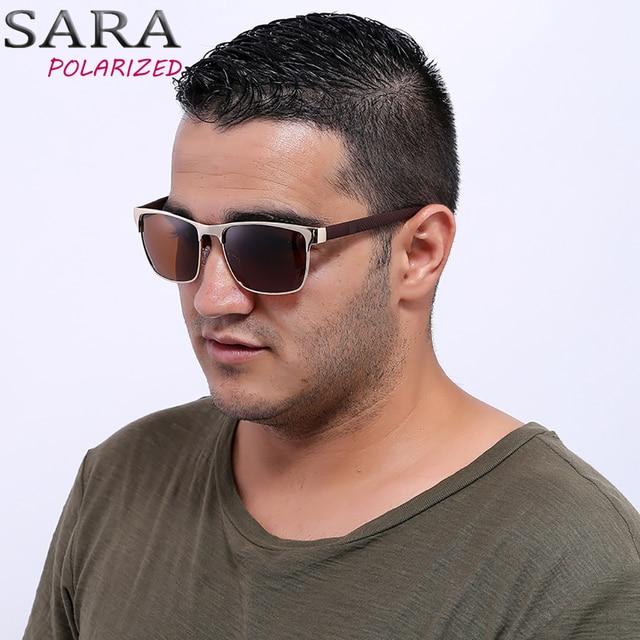 0c9eadf6c02db SARA Polarized Men Sunglasses Sports Oversized Square Driver Fishing Sun  Glasses HD Lens Womens Designer Mens With Leather Box