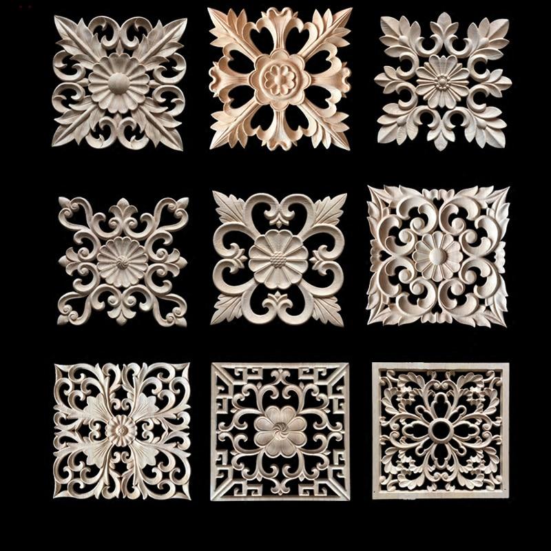 Decorative Wood Appliques Wood Carving Frame For Furniture
