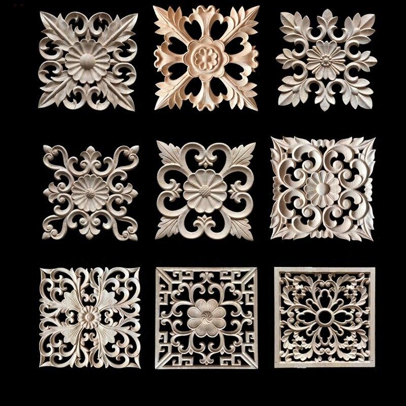 Dekorative Holz Appliques Holzschnitzerei Rahmen für Möbel ...
