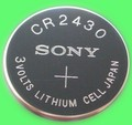 Free shipping 5pcs Battery for SONY CR2430 CR 2430 2430 3V button battery car remote control key Camry
