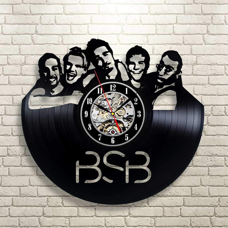 Backstreet Boys 3D Wall Clock Vintage Vinyl Record Clock Black CD Quartz LED Clock Large Wall Clocks Home Decor Unique Gifts image