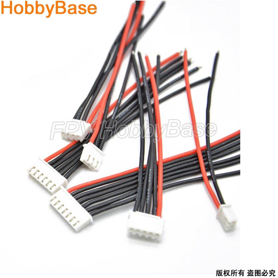 Коннектор для батарей с дистанционным управлением, 100 мм, разъем для батарей Lipo, 2 s, 3 s, 4S, 6 s, 22AWG, балансирующая вилка для Imax, B6, соединительный ...