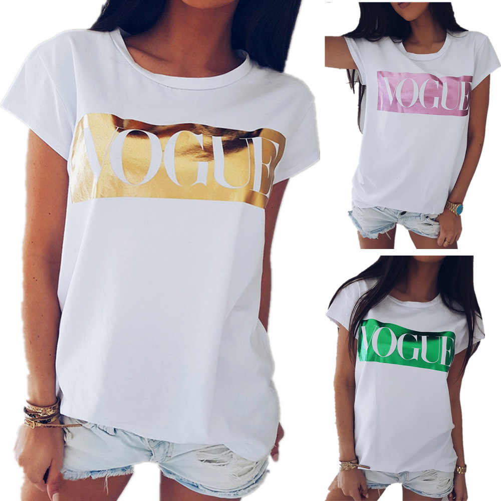 Women t shirt 2019 new fashion vogue print Europe casual round collar short sleeve tshirt dropshipping vestidos LDM190302