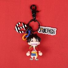 Hot Selling Diy Handmade Japan Cartoon Keychain One piece Men Key Chain Girl Keyring 2019 New Cute