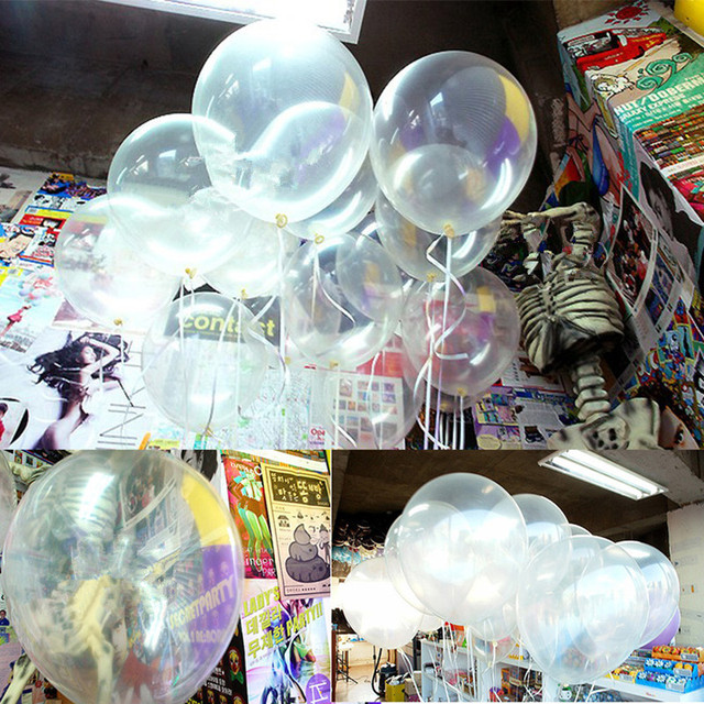 100pcs 12inch Transparent Latex Balloons Globos Wedding Decor Ballons Decorations Clear Helium Balloon Party Supplies
