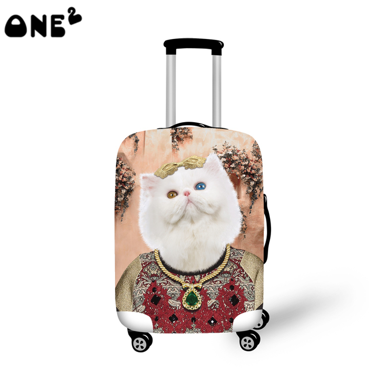 4cefe0222 ONE2 Designd trendy proud cat 22,24,26 inch luggage personalize cover  suitcase girls boys university high school students women