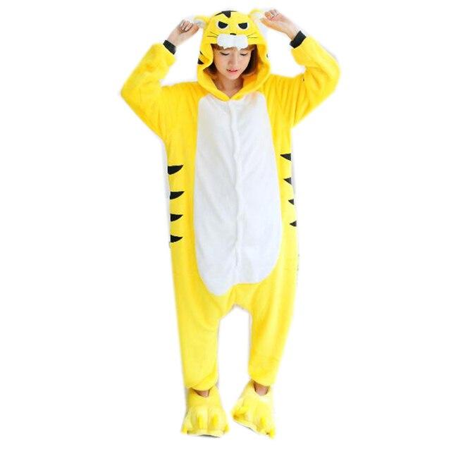 9ade1dc8a828 Prezzo favorevole Top Flanella Con Cappuccio Giallo Tigre adulti Tutina  Costume di Halloween Per Le donne