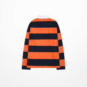 Image 3 - 2019 Autumn Men Long Sleeve Orange Color Polo Shirt Fashion Design Harajuku Strip High Quality Men Polo Shirt Male Luxury