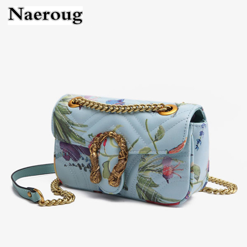 Fashion Brand Designer Embroidered Female Shoulder Bag Chain Crossbody Bags for Women Handbag Purse Leather Messenger Bag Bolsas