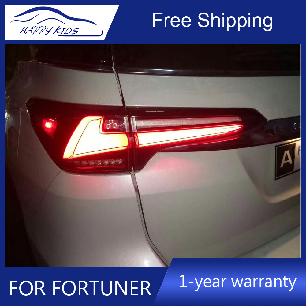 Free ship by Ems High Quality Led Tail lights For Toyota New Fortuner Tail Light Fog