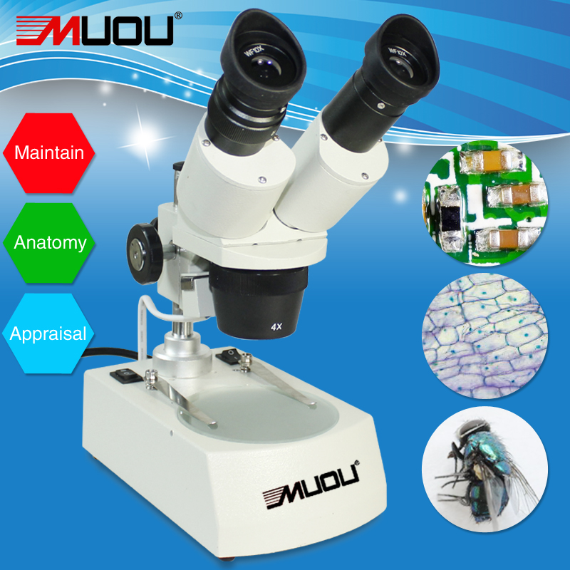Top Quality 20 40X Industrial Binocular Stereo Microscope with Light for PCB Repairing Soldering Phone Repair